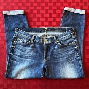 7 For All Mankind Skinny Crop & Roll. Size 32